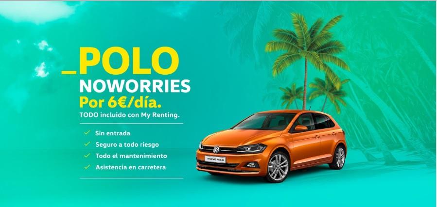 Disfruta de un Volkswagen Polo.. ¡por 6 euros al día!