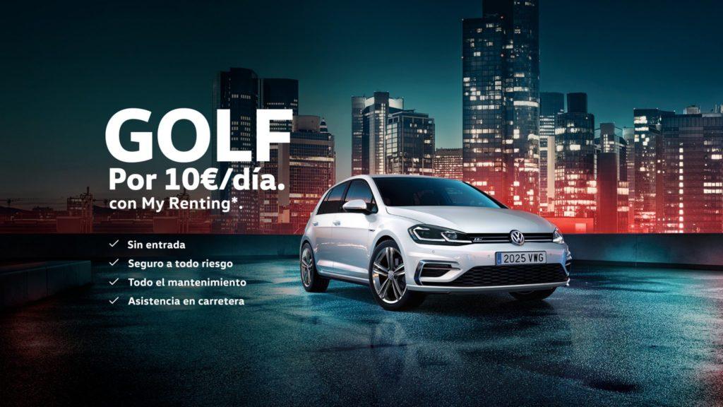 Un Volkswagen Golf con todo... ¡por 10 euros al día!